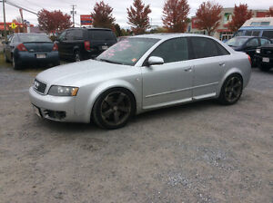 "2004 Audi A4 S4 ,4.2 ,V8 , 5 spd,lowered ,""not stock now"" $7000."
