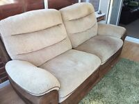 DFS 3 seater large reclining sofa