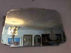 Vintage Frameless mirror with male and female