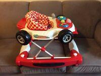 Baby walker and rocker racing car