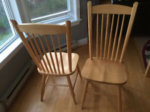 Natural Maple dining chairs