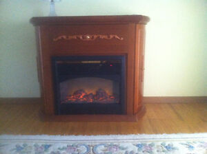 Wooden Fireplace Electric Heater - Decor Flame