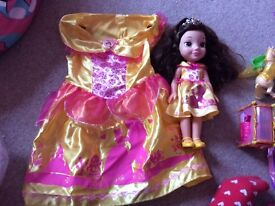 Disney belle dress and doll.
