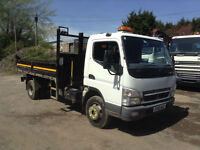 MITSUBISHI FUSO CANTER 7C18 TIPPER WITH SWINGLIFT MODEL V12/4D CRANE