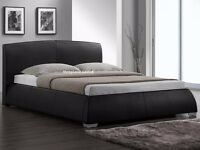 BRAND NEW SPECIAL OFFER BED AND MATTRESS BLACK LEATHER FAST DELIVERY