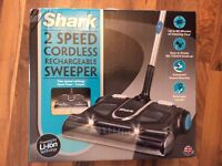SHARK 2 SPEED CORDLESS RECHARGEABLE SWEEPER