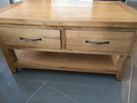Beautiful solid oak coffee table. Perfect condition like new.