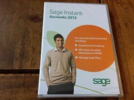 Sage Instant Accounts 2012 For New & Small Business *NEW & SEALED