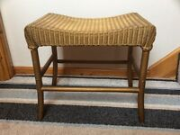 Lloyd Loom 'Lusty' Vintage Retro Original Gold Footstool / Seat / Chair
