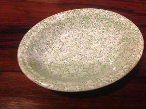 China soapdish floral green
