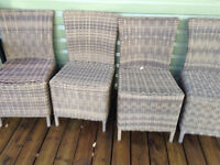 4 Outdoor Wicker Chairs