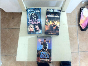 VHS Horror Movies. Classics and OOPs