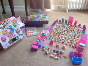 Shopkins collection, 2 collectors boxes and game