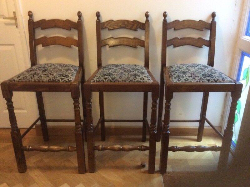 Three bar/breakfast bar chairs