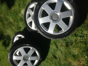 Audi TT rims with all season tires For Sale London Ontario image 1