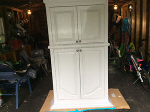 Oversized old armoire, freshly painted.