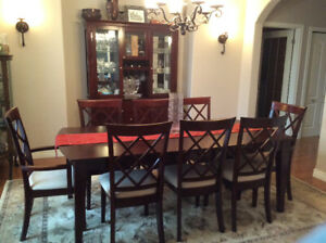Beautiful Dining Table seats 8 and Hutch for sale