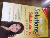 Household solutions 1 with substitutions.