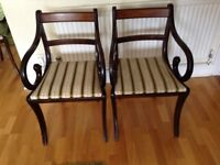 Dining Room Chairs 4 straight back& 2 Carvers