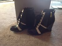 Black and White Jessica Simpson Ankle Boots