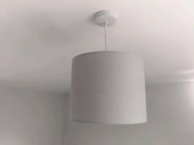 MiniSun 25cm Modern Grey Cylinder Ceiling Pendant/Table Lampshade