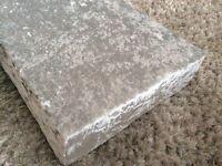 Stunning silver velvet pelmet