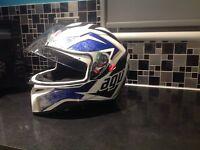 Agv k-3 helmet with sun visor