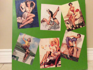 Retro 50's 60's antique pinup girls collectibles picture