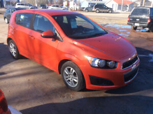 2012 Chevy Sonic hatch,5spd,114kms,Dec MVI Free Warranty