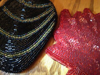 Brand New Beaded mini purse and wallet