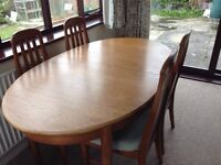 Jentique Dining Room Table and Chairs