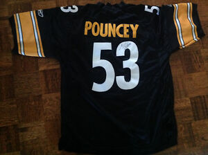 PITTSBURG STEELERS POUNCEY AUTOGRAPH  JERSEY