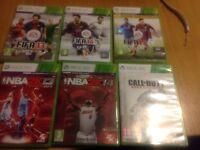 Xbox360 Fifa NBA Call of Duty