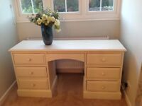 Cream solid pine desk/dressing table