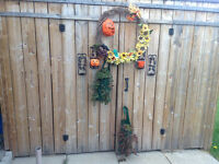 Decorting Hallowneen Wrealth,Pumpkin , TereStone LadyCandl holde