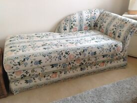 Beautiful chaise longue with sofa bed