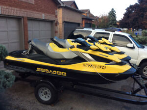 2 - Seadoo Supercharged RXT iS package with 2018 trailer