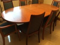 G Plan Dining Table and Eight Chairs 1960/70's Retro Chic