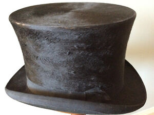 GENUINE GENTLEMEN'S BEAVER TOP HAT (1800s)