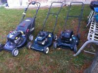 Lawn mowers - reduced price