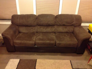 Good used condition sofa and love seat