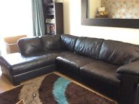 Large Brown Corner Unit & Matching Swivel Chair