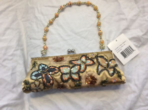 Embroidered beaded/embroidered clutch purse - NEW WITh TAGS!