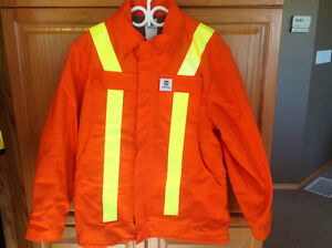 High vis jacket and overalls