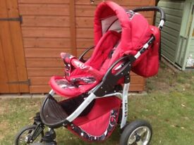 3 x 3 Reclining Pushchair With Rain Cover etc.