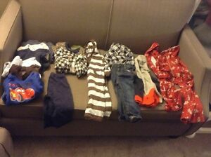 Box of boy's 6-12 months fall/winter clothes