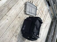 Rack hitch and suitcase