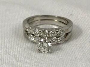 HEARTS ON FIRE ENGAGEMENT 1.52 CTW DIAMOND RING WEDDING BAND 18K
