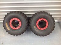 Honda 450r Suzuki ltr 450 beadlocks with tyres