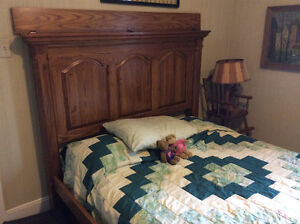 MAPLE QUEEN size BED frame